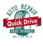 Auto repair. Quick Drive Stock Photo