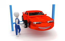 Auto repair - replacing tires Stock Photo