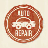 Auto repair. Seal over vintage background vector illustration vector illustration