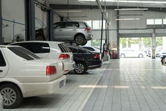 Auto repair service. ,car on the jack stock photography