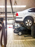 Auto repair service. ,car on the jack Stock Images