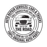 Auto Repair Services Badge template. Car service label, emblem. Auto Repair Services Badge template. Car service label, emblem vector illustration Stock Photography