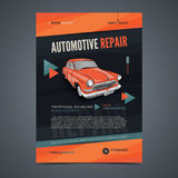 Auto Repair Services layout templates, automobile magazine cover, auto repair shop brochure, mockup flyer. Royalty Free Stock Photo