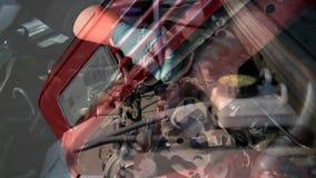 Auto repair shop stock footage