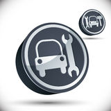 Auto repair shop sign. Vector illustration. 3d vector icon Stock Image