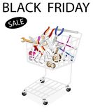 Auto Repair Tool Kits in Black Friday Shopping Cart Royalty Free Stock Photo