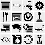 Auto repair vector icons set on gray. Royalty Free Stock Photos