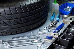 Auto repairing Stock Image