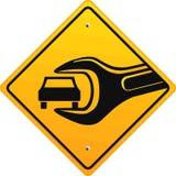 Auto reparatiewerkplaats, teken Royalty-vrije Stock Afbeeldingen