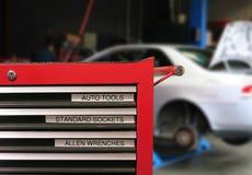 auto reparation arkivbild