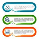 Auto-Reparatur-Service-horizontal-Fahne-Farbe-Bürste Stockfoto