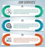 Auto-Reparatur-Service-Shop-horizontal-Fahne Lizenzfreies Stockfoto