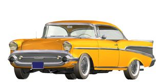 auto retro Royaltyfri Illustrationer