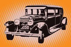 Auto in retro style. Vintage auto. Stock Photography