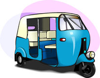 Auto Rickshaw. A blue coloured Auto Rickshaw, seen in Indian roads Stock Photography