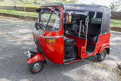 Auto rickshaw. Or tuk-tuk on the street of Galle, Sri Lanka. Most tuk-tuks in Sri Lanka are a slightly modified Indian Bajaj model, imported from India Stock Images