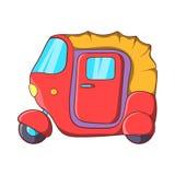 Auto rickshaw icon in cartoon style Stock Photos