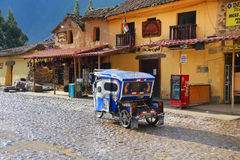 Free Auto Rickshaw In The Street Of Ollantaytambo, Peru Royalty Free Stock Image - 75555546
