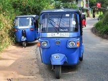 Auto rickshaw on the street Stock Photos