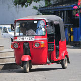 Auto rickshaw on the street Royalty Free Stock Photo