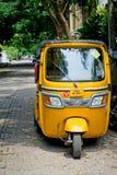 Auto rickshaw on the street  in Pondicherry,  India Stock Photo