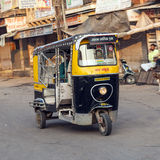 Auto rickshaw taxi driver Royalty Free Stock Image