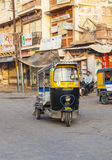 Auto rickshaw taxi driver Stock Images
