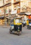 Auto rickshaw taxi driver Stock Images