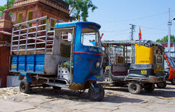 Auto rickshaw taxi in Jodhpur, India. Royalty Free Stock Images