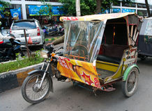 Auto rickshaw taxi in Medan, Indonesia. Royalty Free Stock Image
