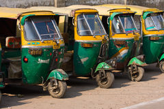Auto rickshaw taxis in Agra, India. Royalty Free Stock Photos