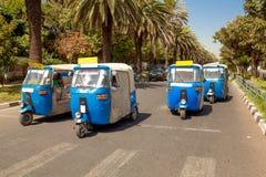 Auto rickshaw taxis Stock Image