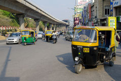 Auto rickshaw taxis in India Royalty Free Stock Image
