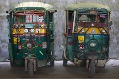 Auto rickshaw taxis on a road. Rishikesh, India Stock Photos