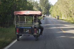 An auto rickshaw in Thailand is popularly known as tuk tuk worldwide. stock photography