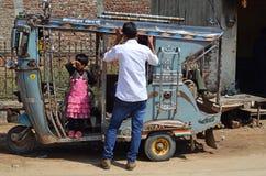 Auto-Rickshaw / Tut-tut, Mandawa, Rajasthan, India Stock Photo