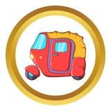 Auto rickshaw vector icon Royalty Free Stock Photos