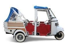 Auto Rickshaw. Vintage auto rickshaw  on white with drop shadow Royalty Free Stock Photos