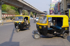 Auto rickshaws in India Royalty Free Stock Image