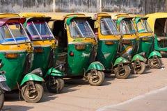 Auto riksza taxi w Agra, India. fotografia stock