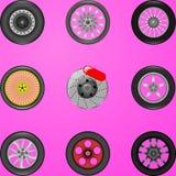 Auto rodas ilustração royalty free