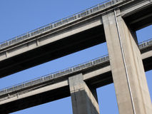 Auto-route bridge Stock Photography