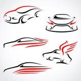 Auto's abstracte reeks. Vector royalty-vrije illustratie
