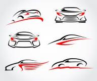 Auto's abstracte reeks Vector Stock Afbeelding