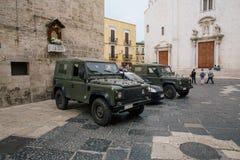Auto's Bari Apulia in Italië Stock Afbeelding