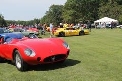 Auto's bij Belle Macchine-de gebeurtenis van de d'Italiaauto Stock Foto