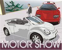 Auto's. De show van de motor vector illustratie