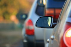 Auto's in een Rij Royalty-vrije Stock Afbeelding