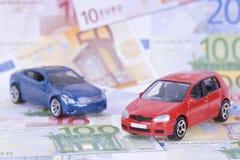 Auto's en geld Royalty-vrije Stock Afbeelding