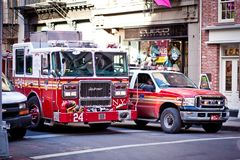 Auto's FDNY in Soho, New York Royalty-vrije Stock Fotografie
